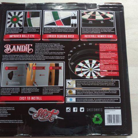 Shot! Bandit Steeldartboard