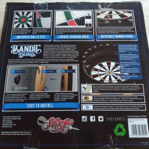 Shot! Bandit Duro Steeldartboard
